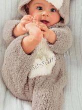 Вязаные комбинезоны для новорожденных спицами - выбор модели, схемы, советы начинающим