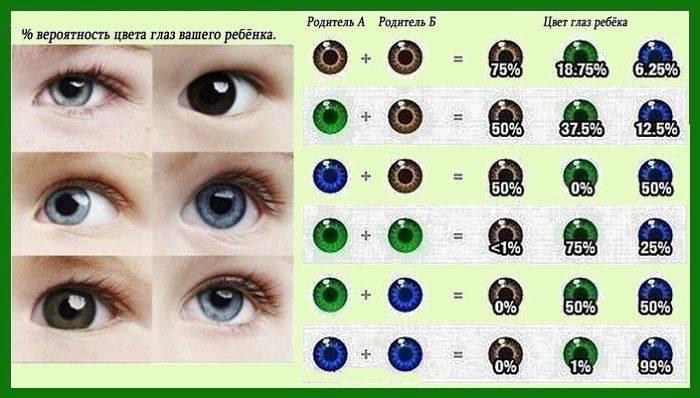 Когда меняется цвет глаз у детей