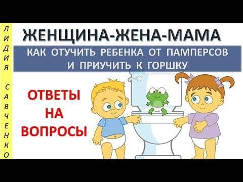 Как приучить ребенка к горшку – и что при этом говорить. как отучить ребенка от памперсов
