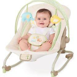 Шезлонг для новорожденных — разновидности баунсеров для дома