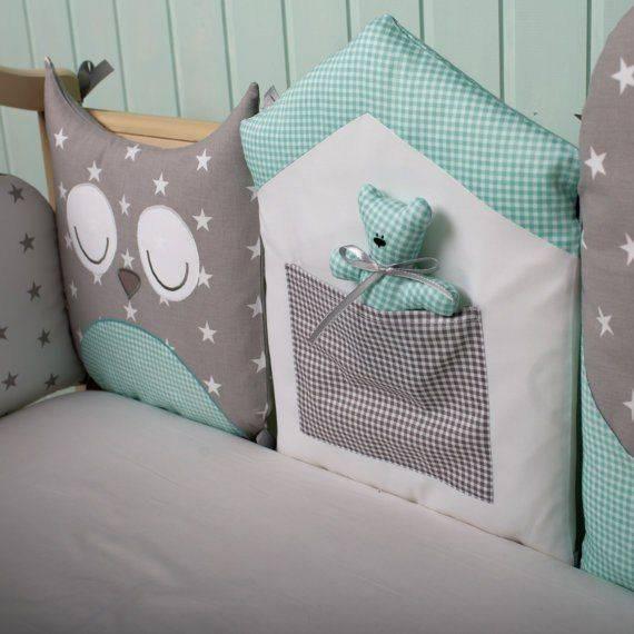 Бортики в кроватку для новорожденных мальчиков и девочек