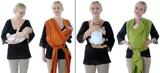 Слинг для новорожденного на лето